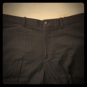 Perry Ellis black on black pinstriped pants